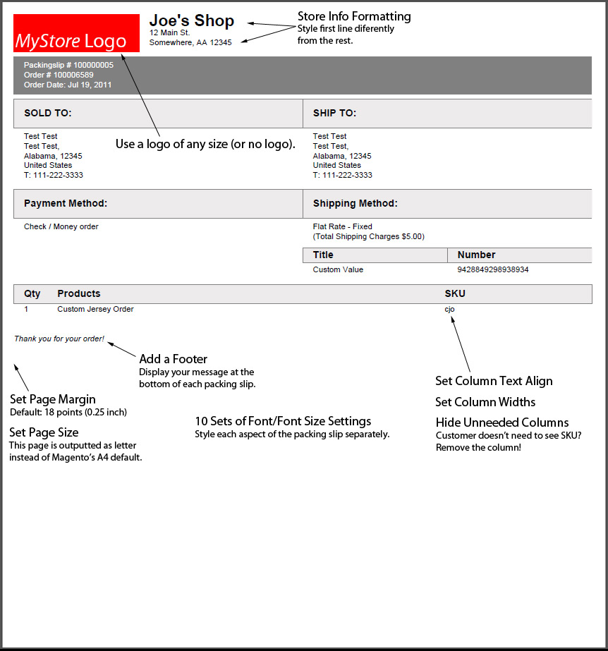 Packing Slip Examples. Magento Extensions Discontinued Ben Gribaudo .  Packing Slip Example