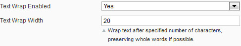 Text Wrap Settings