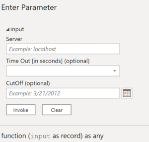 Invoke function form reflecting record parameter's expected shape along with enhanced details