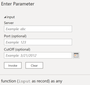 Invoke function form reflecting record parameter's expected shape